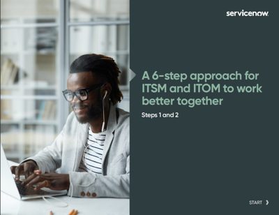 A 6-Step Approach for ITSM and ITOM to Work Better Together eBook